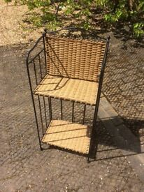Wicker Stand on an Iron Frame
