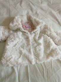 Laura Ashley dress and John Rosha coat age 3-6 months