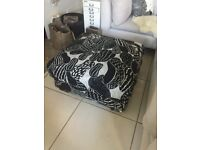 good quality upholstered pouffe/'footstool