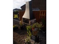 BBQ Canopy, Chiminea, open fire place flue