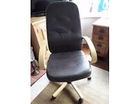 Brown leather look office chair £15