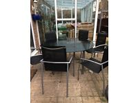 Round garden table 1.5m with 6 chairs