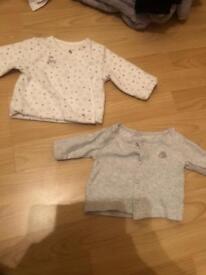X2 newborn cardigans
