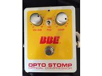 BBE Opto-Stomp compressor (original version with blue LED)