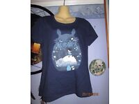 STUDIO GHIBLI TOTORO NAVY T-SHIRT BRAND NEW WITHOUT TAGS SIZE 12/ 14