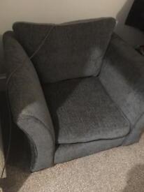 Big deep arm chair.