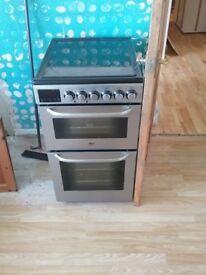 Zanussi cooker 49cm w x60 /fridge freezer hotpoint/king size bed