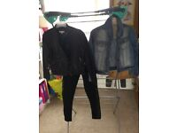 Girls Leather Biker Jacket, Biker Pants & Denim Jacket - Age 7 Years
