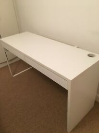 White Computer Desk with 2 Draws