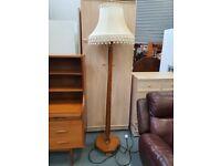 Beautiful Art Deco wooden floor lamp + Free delivery