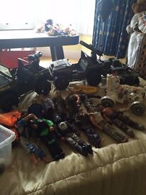 Action men and vehicles