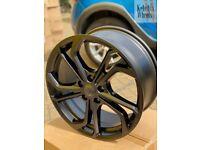 "18"" VW GOLF REIFNITZ STYLE ALLOY WHEELS MATT BLACK AUDI A3 VW GOLF MK5 MK6 MK7 MK7.5"