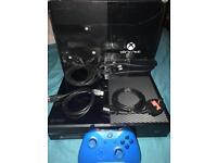 Xbox one 500gb with blue controller