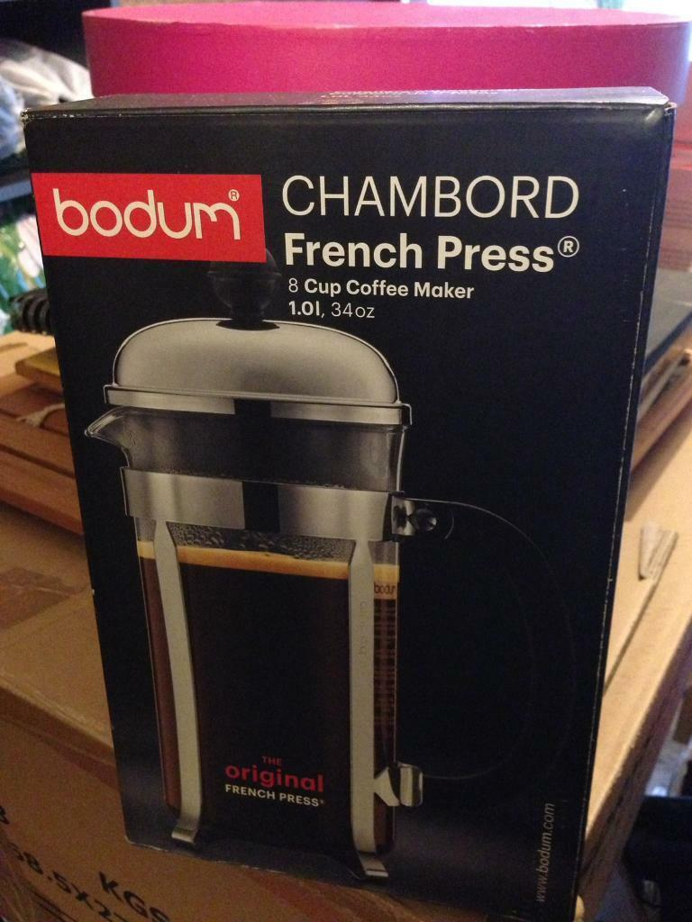 *New* and boxed Chambord French Press, 8 cup coffee cafetière cafetiers Christmas Present
