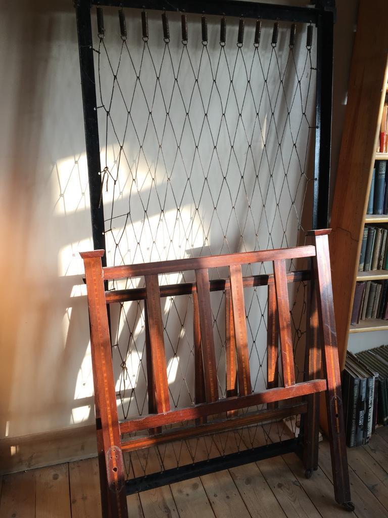 Antique wooden single bed frame