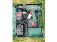 Bosch PSB24VE-2 Hammer Drill with two batteries