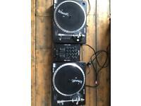 Gemini TT02 decks and MX02 mixer