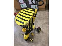 Smartrike trike in black and yellow
