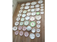 Huge Mis-match Pretty Fine Bone China Wedding Tea Party Cake Plates Platters x44