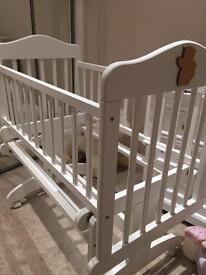 White baby crib for sale