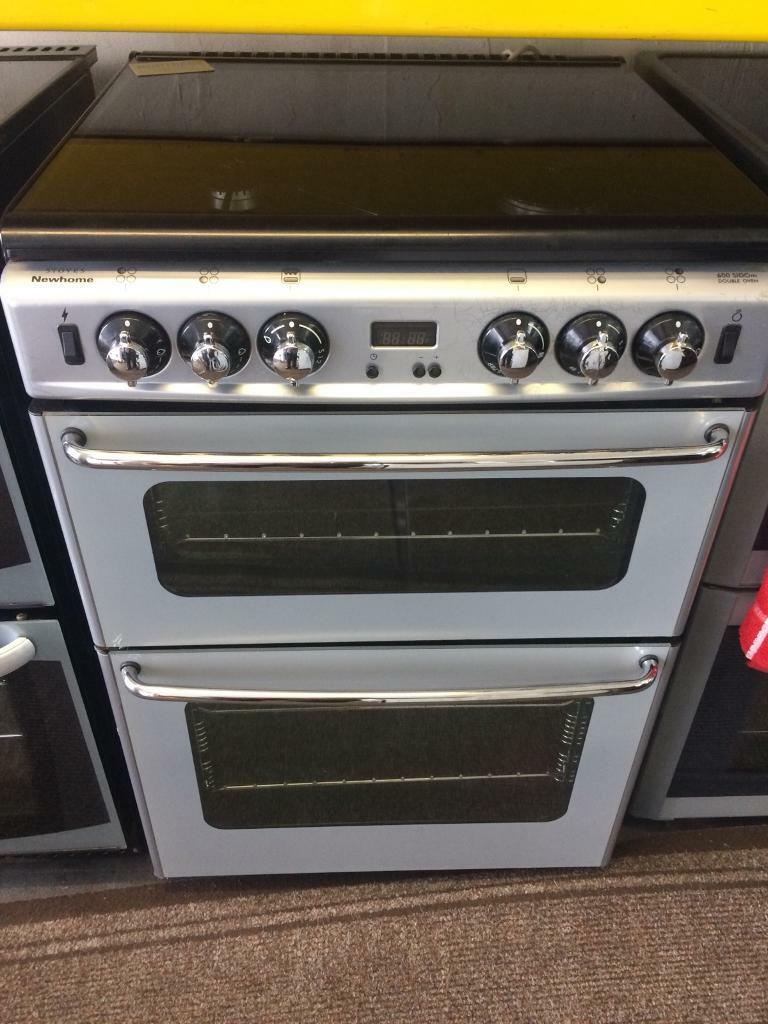 Silver stoves 60cm gas cooker grill & double ovens good condition with guarantee bargain
