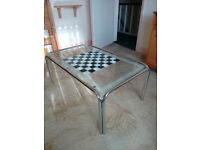 Glass Coffee Table - chess