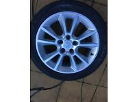 "Vauxhall 5 stud 17"" alloys!! Good tyres!!"