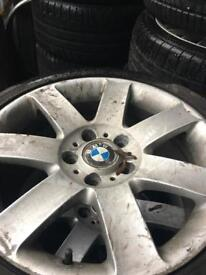 BMW ally wheels and tiers size 225/45-17 .set of 4.