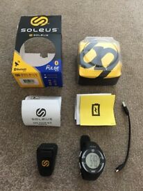 SG013-004 SOLEUS GPS PULSE BLE WATCH HEART RATE MONITOR BLACK/WHITE