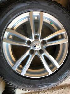 225/60/17 Toyo gsi5 hiver 10-11/32 + mags 17 pouces 5x114.3   Infinity
