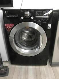 Gloss black 9kg LG A+++ Washing Machine