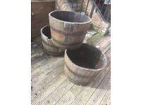 Half whisky barrels