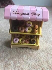 Sylvanian family doughnut shop set