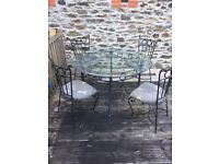 Laura Ashley Wrought Iron Table and Chairs (still available )