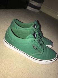 Green Vans U.K. Size 5.5