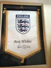 ENGLAND World Cup signed Flag Fabio Cappello