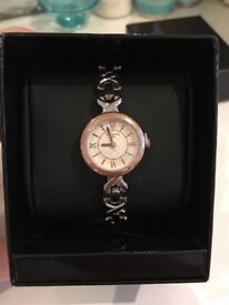 BNIB Infinite Ladies Silver And Rose Gold Link Wrist Watch