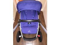 Blue quinny buzz 3 in 1 pram & maxi cosi car seat & accessories