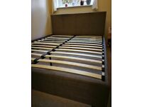 KING SIZE BED FRAME IN GREY FABRIC CAN DELIVER