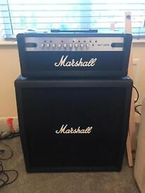 Gender Strat with Marshall Amp and Cabinet