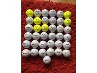 37 MIXED CALLAWAY AND SRIXON GOLF BALLS