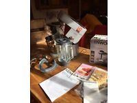 Kenwood MAJOR Titanium food mixer plus accessories as new. Includes blender jug and mincer.