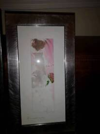Pair of framed wedding themed prints