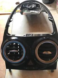 Corsa gloss black centre console trim