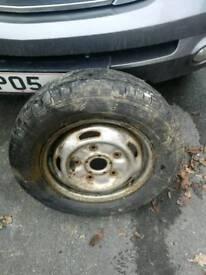 Transit van wheel and tyre
