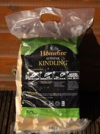 LARGE BAGS OF HOMEFIRE KINDLING 3 BAGS ONLY £5 TO CLEAR .