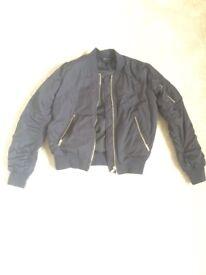 Top Shop Bomber Jacket - Navy. SIZE 10