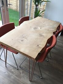 Modern set of IKEA leather dining chairs - only few months old!