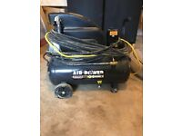 5kva transformer 2 X 16amp outlets 1 X 32 amp outlet with 24 litre air compressor