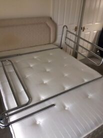 Chrome Bed Safety Rails, Fully Adjustable length and width ways - Heavy Duty